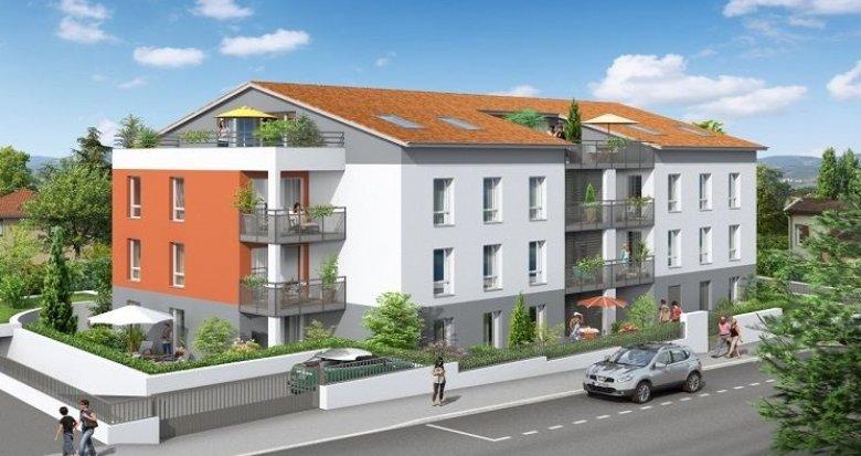 Achat / Vente programme immobilier neuf Craponne à 500 mètres de la place Marie-Andrée Perrin (69290) - Réf. 1041
