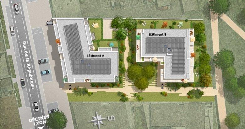 Achat / Vente programme immobilier neuf Meyzieu centre ville (69330) - Réf. 1298