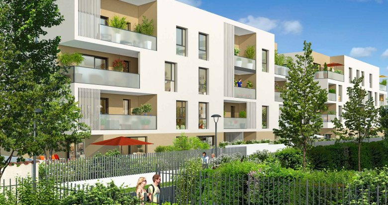 Achat / Vente programme immobilier neuf Meyzieu proche mairie (69330) - Réf. 576