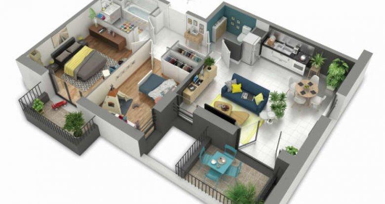 Achat / Vente programme immobilier neuf Rillieux-la-Pape proche centre-ville (69140) - Réf. 358