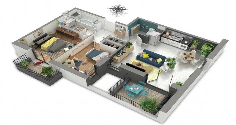 Achat / Vente programme immobilier neuf Rillieux-la-Pape proche centre-ville et écoles (69140) - Réf. 1999