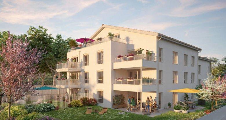 Achat / Vente programme immobilier neuf Saint-Priest au cœur du quartier du village (69800) - Réf. 5861