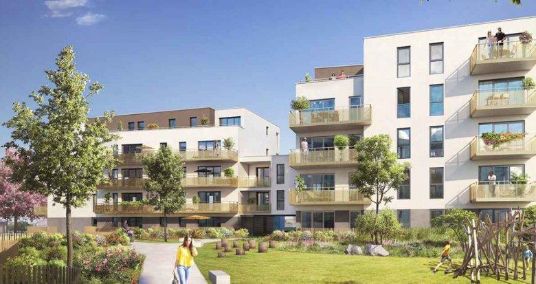 Achat / Vente programme immobilier neuf Saint Priest au sud de Lyon (69800) - Réf. 2065