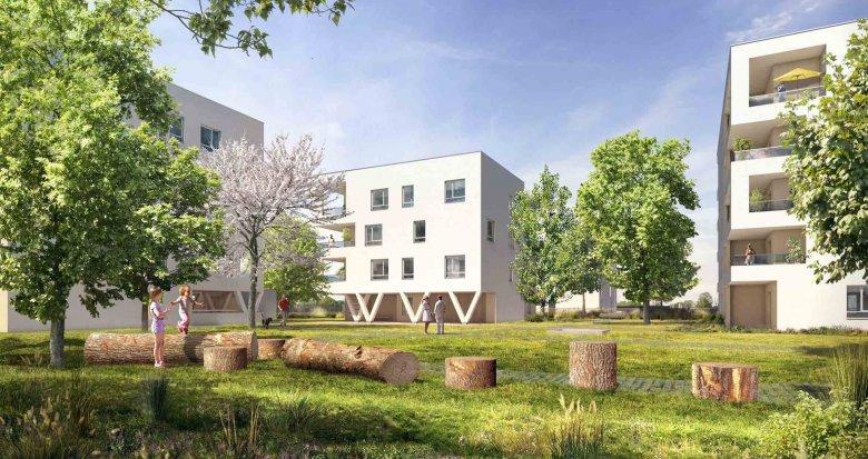 Achat / Vente programme immobilier neuf Vaulx-en-Velin proche centre-commercial Carré de Soie (69120) - Réf. 1591