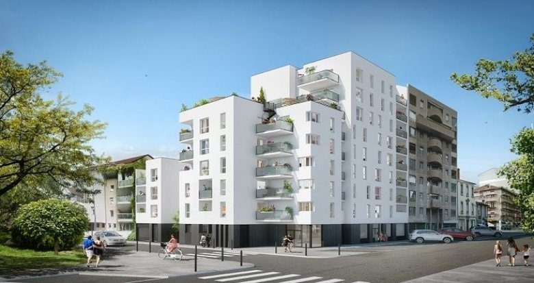 Achat / Vente programme immobilier neuf Villeurbanne proche Gratte-Ciel et Parc des Droits de l'Homme (69100) - Réf. 786