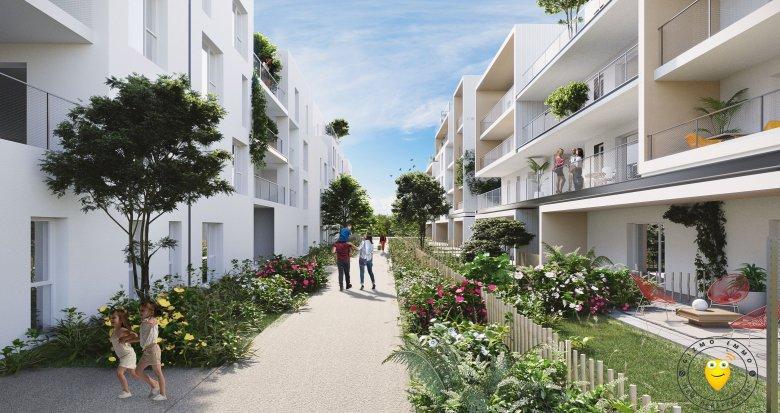 Achat / Vente programme immobilier neuf Villeurbanne proche parc de la Feyssine (69100) - Réf. 1972
